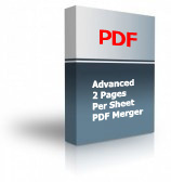 Advanced 2 Pages Per Sheet PDF Merger Product Box