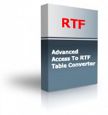 Advanced Access To RTF Table Converter Product Box