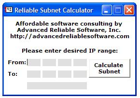 Reliable Subnet Calculator