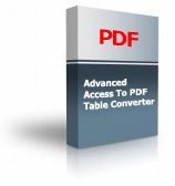 Advanced Access To PDF Table Converter Product Box