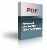 Advanced CSV To PDF Table Converter Product Box