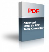 Advanced Excel To PDF Table Converter Product Box