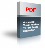 Advanced Visual FoxPro To PDF Table Converter Product Box