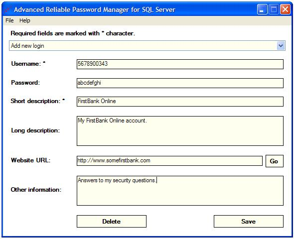 Advanced Reliable Password Manager for SQL Server